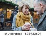 mature couple are enjoying a... | Shutterstock . vector #678933604