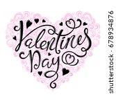 happy valentines day | Shutterstock . vector #678934876