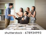 business people clapping in... | Shutterstock . vector #678934993