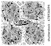 vector hand drawn doodle... | Shutterstock .eps vector #678936094