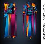 futuristic frame art design... | Shutterstock .eps vector #678936976