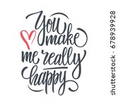 you make me really happy... | Shutterstock .eps vector #678939928