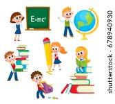 kids  children at school ...   Shutterstock .eps vector #678940930