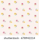 ditsy floral vector pattern.... | Shutterstock .eps vector #678942214