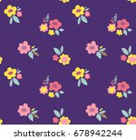 floral vector pattern. cute...   Shutterstock .eps vector #678942244