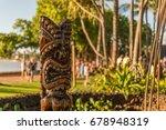Ti Ki Statue At Hawaii Luau