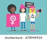 women's right. conceptual... | Shutterstock .eps vector #678949924