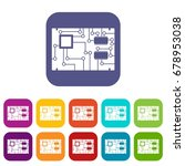 electronic board icons set... | Shutterstock .eps vector #678953038