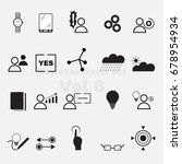 business icons set vol 8 | Shutterstock .eps vector #678954934