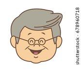 portrait happy grandfather man...   Shutterstock .eps vector #678960718
