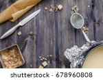 cooking dough  cooking... | Shutterstock . vector #678960808
