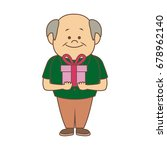 portrait happy grandfather man...   Shutterstock .eps vector #678962140