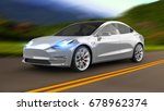 electric car 3d rendering | Shutterstock . vector #678962374