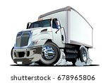 vector cartoon truck. available ... | Shutterstock .eps vector #678965806