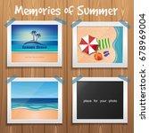 summer design. memories of... | Shutterstock .eps vector #678969004
