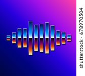 80s styled sound wave. 1980...   Shutterstock . vector #678970504