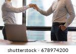 business partners giving fist... | Shutterstock . vector #678974200