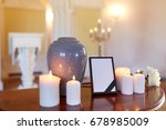 funeral and mourning concept  ... | Shutterstock . vector #678985009