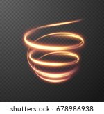 glowing spiral effect on... | Shutterstock .eps vector #678986938