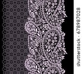 seamless black and white lace... | Shutterstock .eps vector #678987028