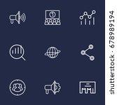 set of 9 commercial outline... | Shutterstock .eps vector #678989194