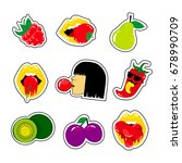 fashion patch badges with... | Shutterstock . vector #678990709