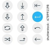 vector illustration of 12 sign... | Shutterstock .eps vector #678991198