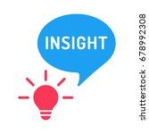 insight. light bulb with speech ... | Shutterstock .eps vector #678992308