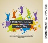 international youth day... | Shutterstock . vector #678992458