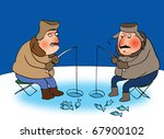 Two Fishermans On A Frozen...
