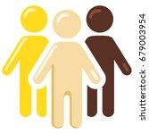 vector color social icon  ... | Shutterstock .eps vector #679003954