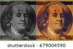portrait of u.s. president... | Shutterstock . vector #679004590