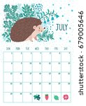 vector monthly calendar with... | Shutterstock .eps vector #679005646