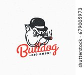 bulldog logo template design....   Shutterstock .eps vector #679005973