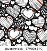 love ornamental pattern with... | Shutterstock .eps vector #679006840