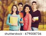 group student. | Shutterstock . vector #679008736
