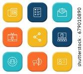 set of 9 commercial outline... | Shutterstock .eps vector #679010890