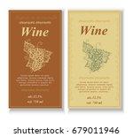 wine label  vintage vector... | Shutterstock .eps vector #679011946