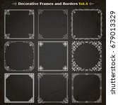 decorative square frames...   Shutterstock .eps vector #679013329