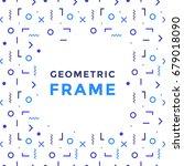 vector geometric shapes frame.... | Shutterstock .eps vector #679018090