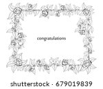 frame for congratulation with... | Shutterstock .eps vector #679019839