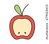 delicious slice apple fruit... | Shutterstock .eps vector #679023613