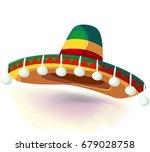 sombrero hat vector... | Shutterstock .eps vector #679028758