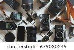 vintage film camera  digital...   Shutterstock . vector #679030249