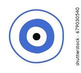 blue greek evil eye vector  ... | Shutterstock .eps vector #679030540