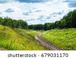 beautiful view of railway | Shutterstock . vector #679031170