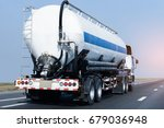 gas or oil truck on road... | Shutterstock . vector #679036948