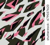 seamless futuristic fashion... | Shutterstock .eps vector #679037620