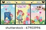 easter set and spring summer... | Shutterstock .eps vector #67903996