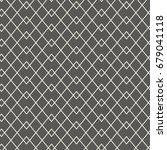 seamless grid pattern. thin... | Shutterstock .eps vector #679041118
